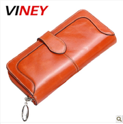 Viney корейских милые женщины длинная рука молния сумки