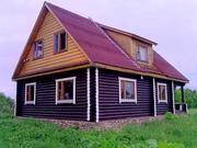 Продам Дом Двухэтажный Бревенчатый Новый 110 кв.м. в дер. Лапино 55 км