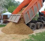 Доставка карьерного песка от 3 до 20 куб.м